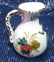 Wonderful Vinegar Jug continental pottery twist handle made in Italy 5 ins tall