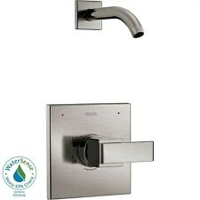 Delta Ara Shower Faucet in Stainless Steel Finish Less Head with Valve D2562V