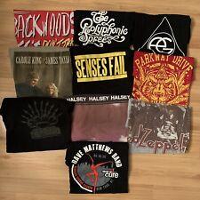 Rock Band Music T-Shirt Lot Of 10, Dave Matthews, Led Zeppelin, SensesFail, More