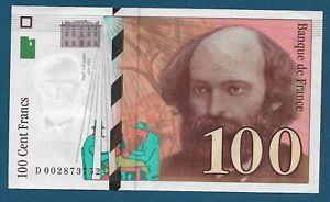 100 Cent Francs 1997. France banknotes, Paul Cézanne - Original banknotes !