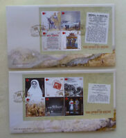 2015 NEW ZEALAND SPIRIT OF ANZAC SET OF 2 SHEETLET FDC FIRST DAY COVERS