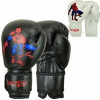 Spider-man Kids Boxing Gloves Junior Mitts 4oz, 6oz Punch Bag Children MMA Youth