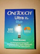 100 One Touch Ultra Blue Blood Glucose Diabetic Test Strips 10-12/2018 Damaged
