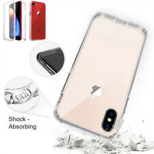For iPhone XR XS 5 7 8 Clear Built In Screen Protector 360 Full Body Case Cover