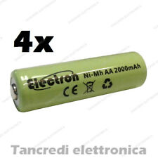 4x BATTERIA AA Stilo 2000 mAh Rechargeable Accu Mignon Ready 2 use pila nimh 2Ah