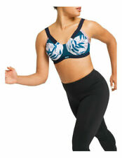Berlei SHIFT Underwire Extreme Sports Bra 10D Crossover Leaf Print Rrp $70