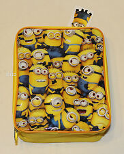 Despicable Me Minions Collage Yellow Printed Insulated Lunch Box Cooler Bag New