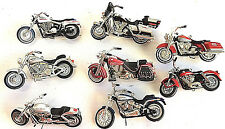 8 Harley-Davidson Hallmark Motorcycle Ornaments Various Dates No Boxes