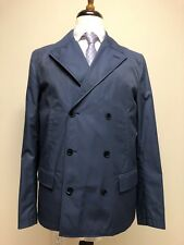 $2500 New Dolce & Gabbana Blue Jacket Double Breasted Pea Coat 40 US 50 IT