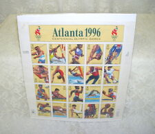 Atlanta 1996 Olympic Games Plate Block of Stamps Never used or hinged