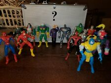 90s Action Figures Lot Of 14. DC, Marvel, Spiderman, Man Of Steel Etc. Toys