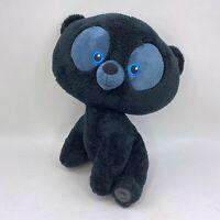 "Disney Store Pixar Brave Bear Cub Plush Hamish Black Patch Stuffed Animal 14"""