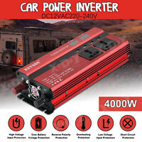 Inversor Uso universal 4000W 12V DC 220V AC Power Inverter 4USB with LCD Display