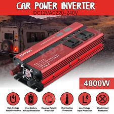 Inversor Uso universal 4000W 12V DC 220V AC Power Inverter 4USB with LCD Display