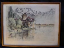 PAUL GEISSLER 1881 ERFURT-1965 GARMISCH SCHLOSS CHILLON AM GENFERSEE UM 1945