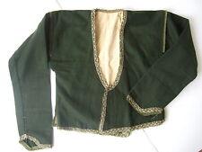 Woman's Eastern European Vintage Handmade Folk Dress Jacket Gold Lace