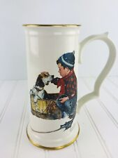 Norman Rockwell Collectors Stein Boy Meets His Dog Cup Mug Limited Edition