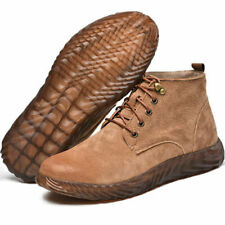 Mens Women Outdoor Work Safety Boot Non-slip Leather Shoes soft workshoes breath