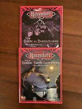 TSR AD&D Ravenloft Module LOT Gothic Earth Gazetteer & Guide to Transylvania NM