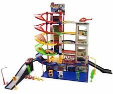 6 Level Car Park Garage Petrol Station Play Set Include 5 VEHICLES Gift For Kids