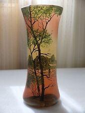 French Cameo Art Nouveau vaso di cristallo nel modo di LEGRAS ha
