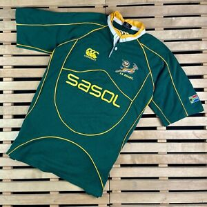 Mens Rugby Canterbury South Africa Sasol Jersey Size XL