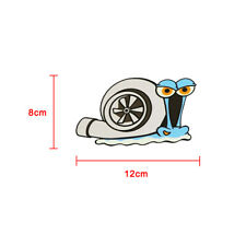 Funny Turbo Snail Decal PET Car Styling Bumper Window Wall Stickers Accessories