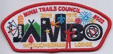 Witauchsoman Lodge 44 OA patch X22 Minsi Trails Council Jambo 2015 CSP