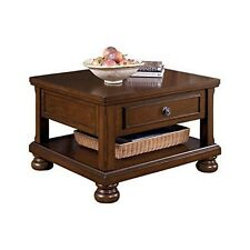 Signature Design by Ashley T697-0 Porter Lift Top Cocktail Table Rustic Brown