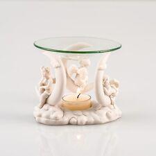 Duftlampe Engel auf Halbmond Duft Öl Lampe für Duftöle Entspannung Pajoma Glas 1