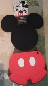 Disney Mickey Mouse 2pk Silicone Trivets Set - Mickey Ears and Pant Set - New