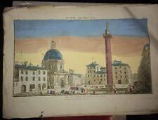 ROME. VUE DU COLOMNE DE TRAJAN  (VUE D'OPTIQUE FIN XVIIIéme)