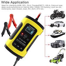 12V 6A Caricabatterie Batteria Auto Mantenitore con LCD Display per Auto Moto