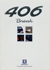 PEUGEOT 406 Break prospetto 4/99 auto PROSPEKT 1999 opuscolo brochure brosjyre