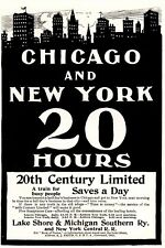 1902 ad vintageTrains Lake Shore New York Central 20 hours Commercial Cor School