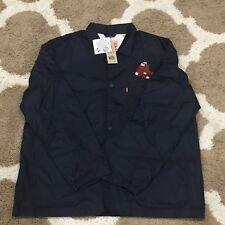 NWT Levi's Boston Red Sox Men's Club Coat Blue-Red Size XL
