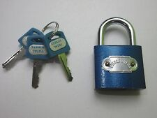 40MM BLUE PADLOCK HEAVY DUTY 6 FOR ONLY £4.99 FOR LOCKERS, SUITCASES, GARAGES