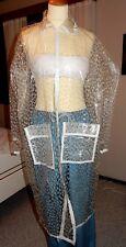 100% Pvc raincoat with white edges and push buttons size L. Vinyl coat, Pvc Mac.