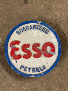 Vintage Esso Petrol Pump Sign Garage Mancave Old Station