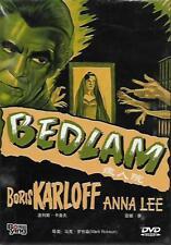 Bedlam DVD Boris Karloff Anna Lee Billy House NEW R0 B&W 1946