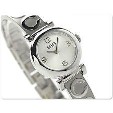 NWT Coach Women's Watch SILVER Bracelet Bangle C Monogram MADISON 14501687 $250
