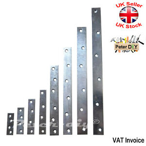 FLAT BRACKET Brace SILVER Glavanised Mending Plate Joiner Connector 8 Sizes