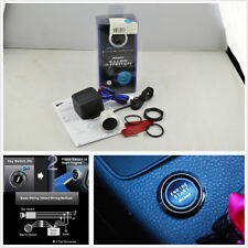 DC12V Blue Illumination Car Engine Start Push Button Switch Ignition Starter Kit
