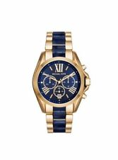 Michael Kors MK6268 Bradshaw  Gold and Navy Blue Chronograph Unisex Watch