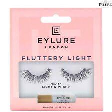 Eylure Light & WISPY Fluttery Light 117 False Eyelashes Reusable Lashes + Glue