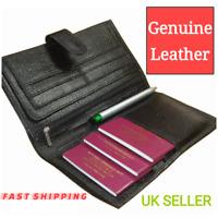 Travel Wallet Leather Multi Passport Boarding Pass Ticket Holder Document Holder