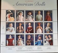 1996 CLASSIC AMERICAN DOLLS Mint Sheet 15/ 32 Cent Gummed Postage Stamps
