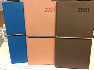 2021 Week to View SLIMLINE Diary -SOFT COVER asst designs (random colour sent)