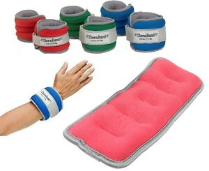 Theraband Wrist Ankle Weights Soft Neoprene Gym Aerobics 1lb 1.5lb 2.5lb Choose