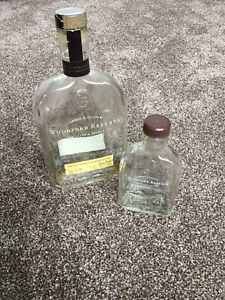 Empty Woodford Reserve Kentucky Bourbon Whiskey Bottle Upcycle 70cl And 20cl
